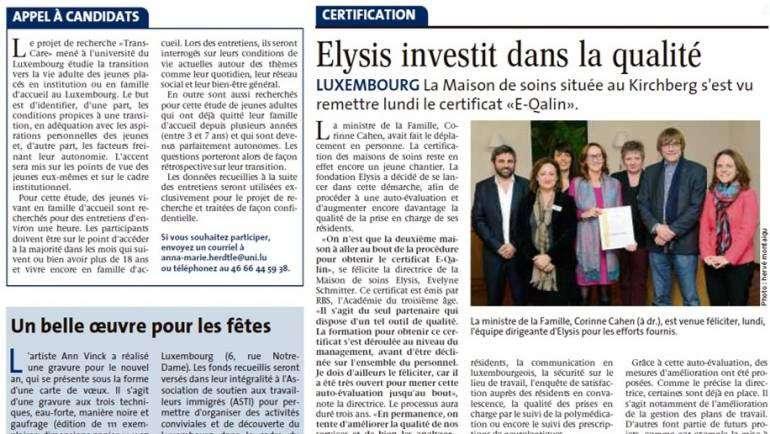 Elysis investiert in Qualität